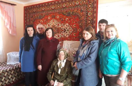 Мешканка Гніздичівської ОТГ відзначила 100-літній ювілей